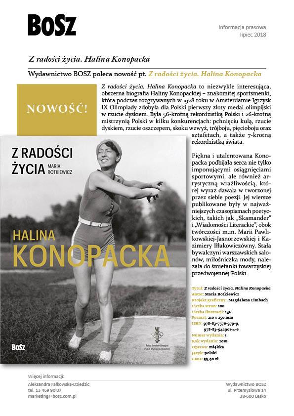 Z Radości życia Halina Konopacka Lipcowa Premiera