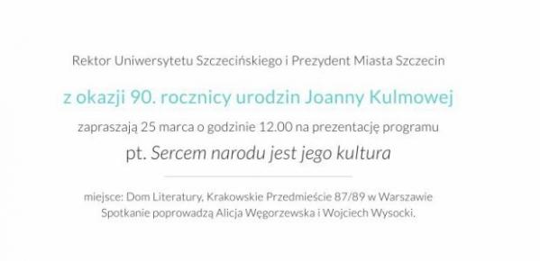 90 Urodziny Joanny Kulmowej Portal Księgarski